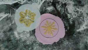 Snowflake Cookies using our Snowflake Icing Stencil all 3D Printed