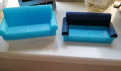 Sofa or Settee Business Card Holder printed in two colours
