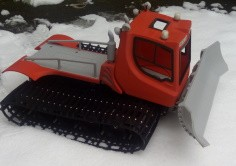 Remote control Snow Plough ntirely 3D printed