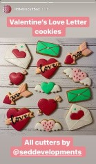 Valentines Cookies created with our 3D Printed Cookie Cutters