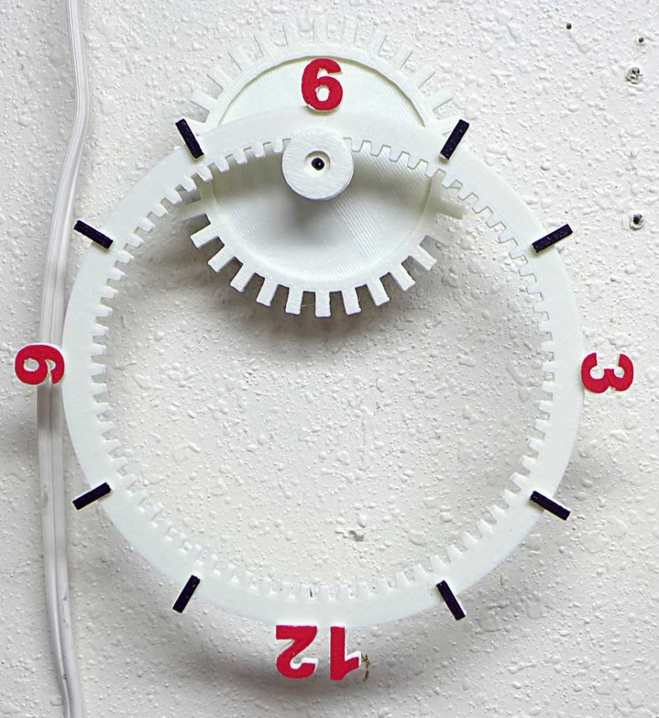 Floating Clock 3D Printed