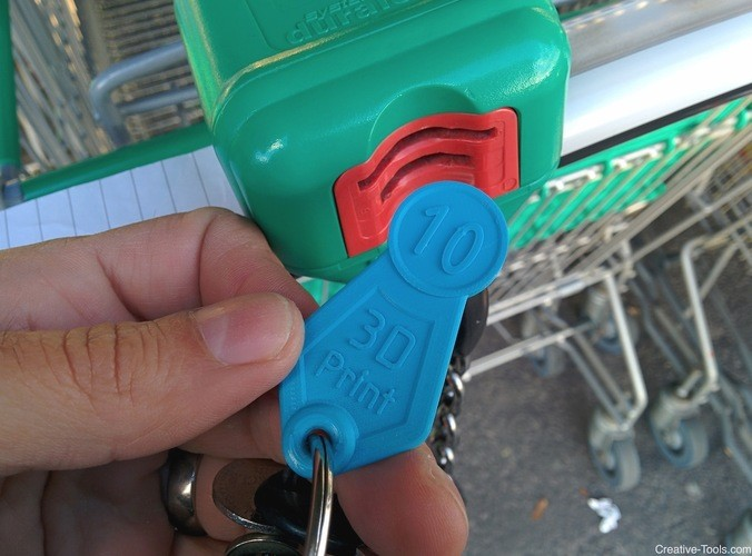 Token for Shopping Trolley 3D Printed